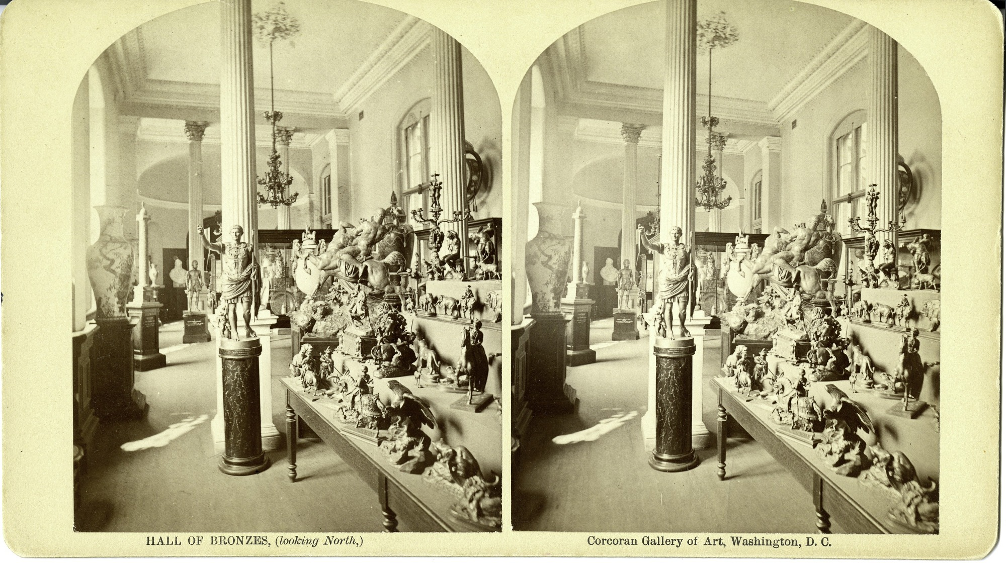 Hall of Bronzes, Interior of the Corcoran Gallery of Art, 19th Century, by Unknown, circa 1875, Smithsonian Archives - History Div, SIA2011-1139.
