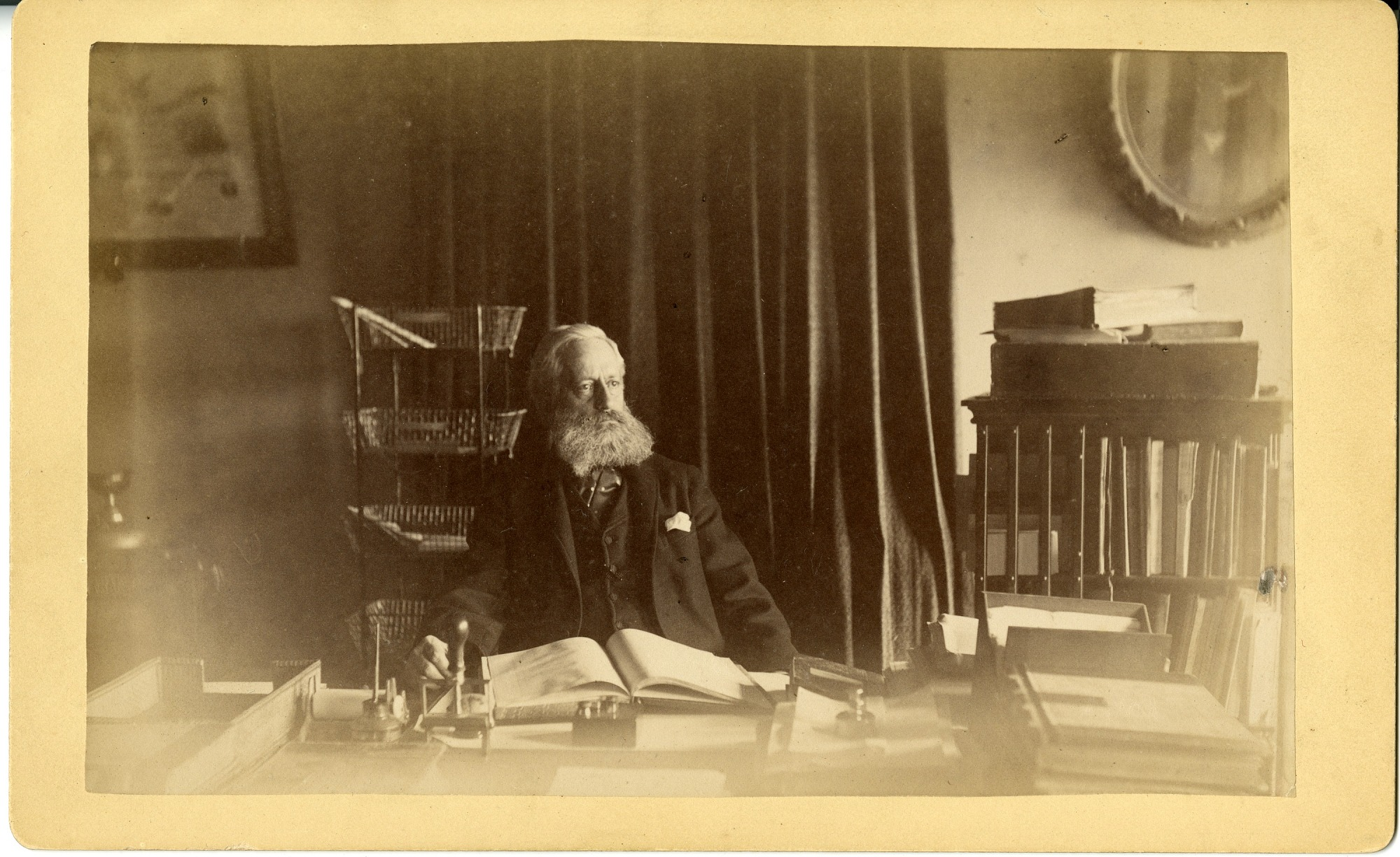 William J. Rhees in His Office
