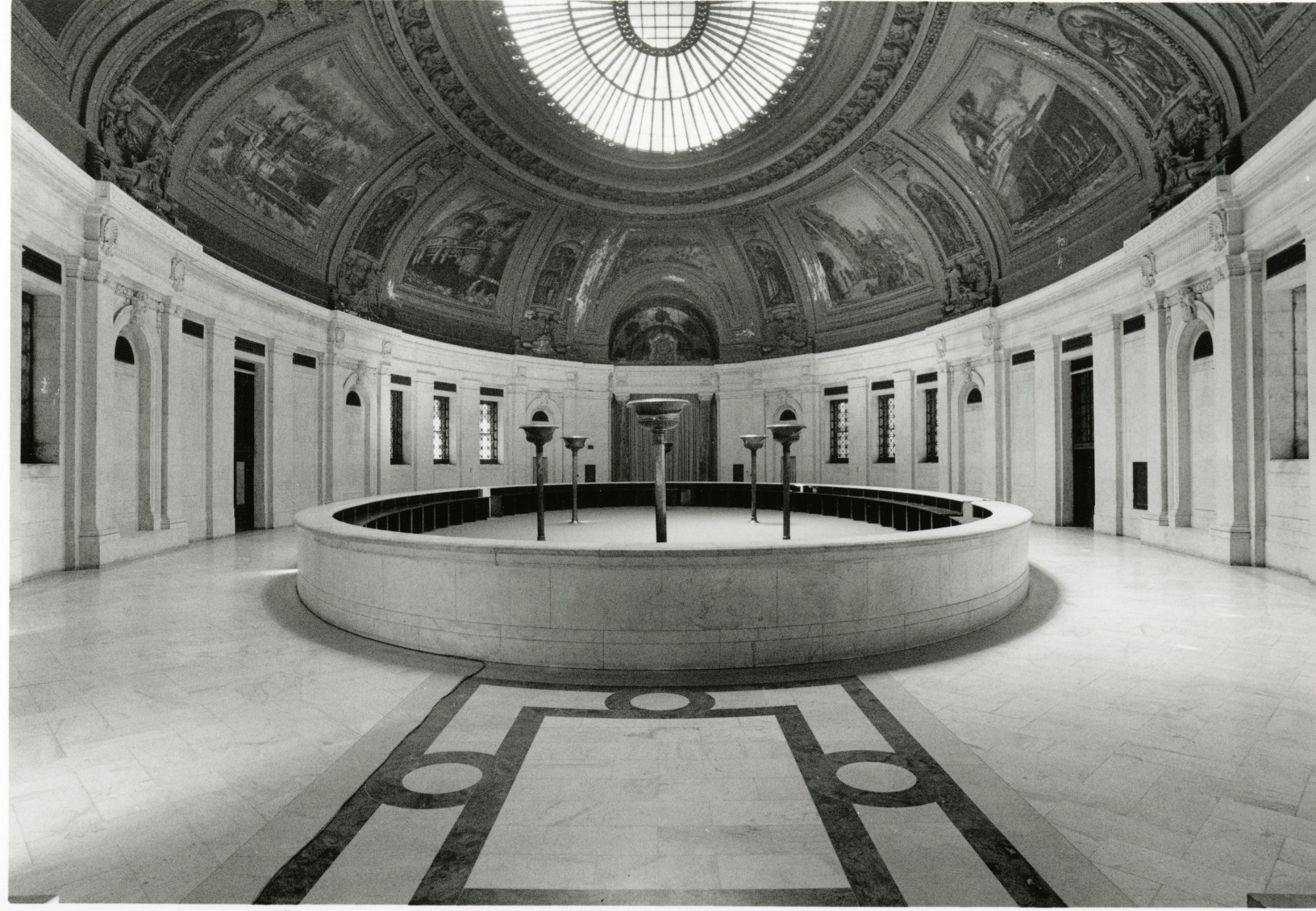Interior of Alexander Hamilton Customs House with Fountain