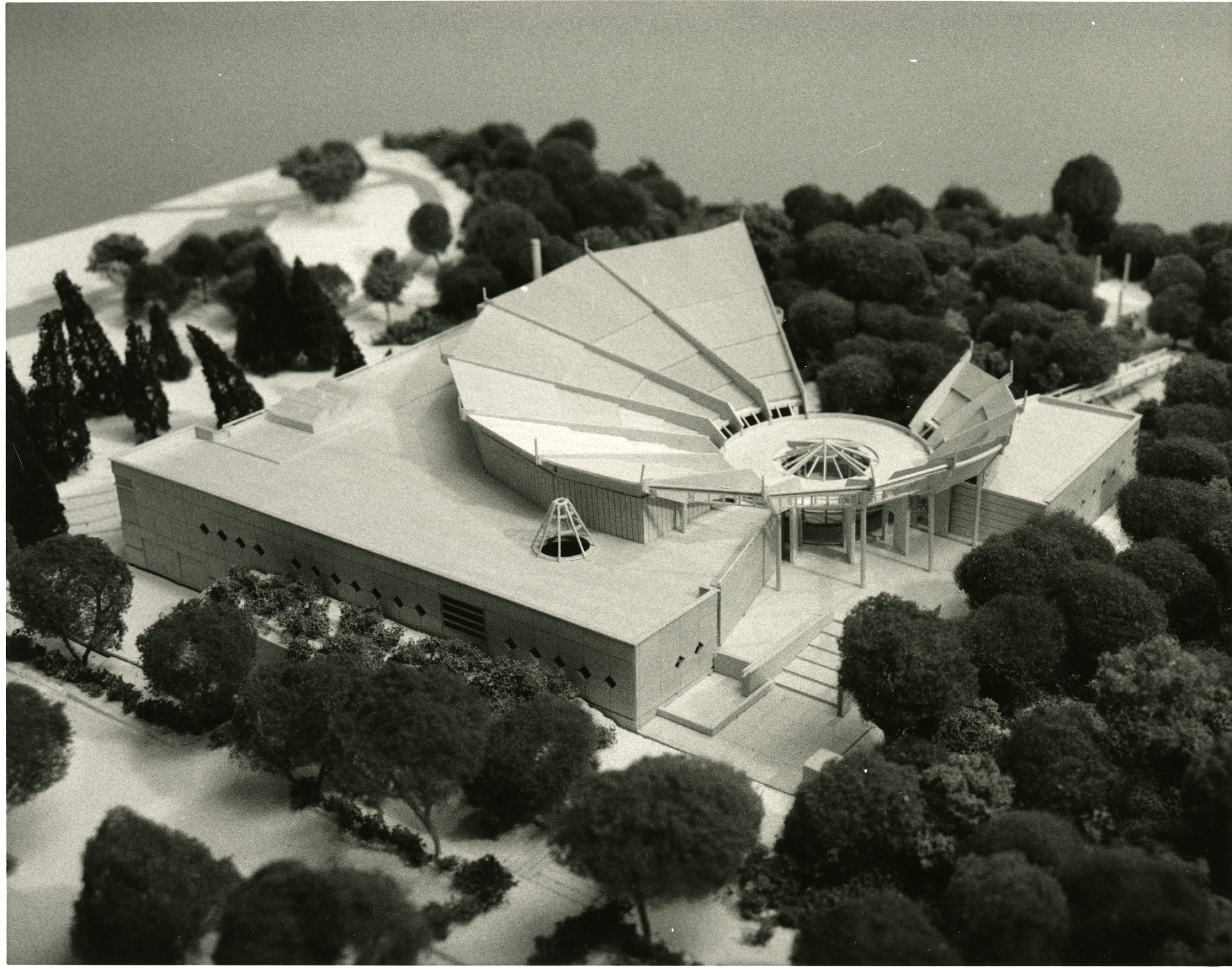 Model of National Museum of the American Indian Cultural Resources Center