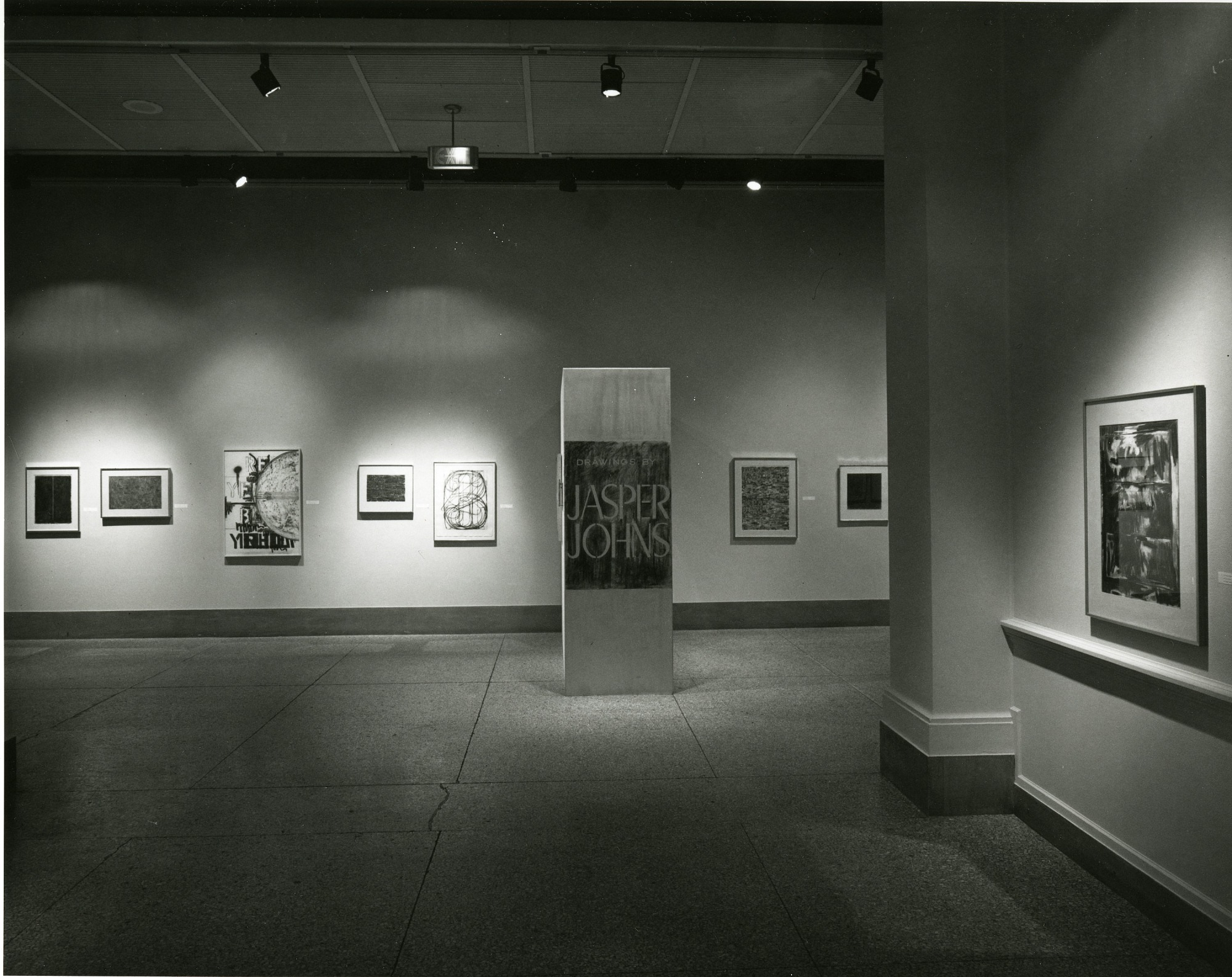 """Exhibit Space for """"Drawings by Jasper Johns"""""""