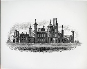 Image of Smithsonian Institution Building Exterior Line Drawing