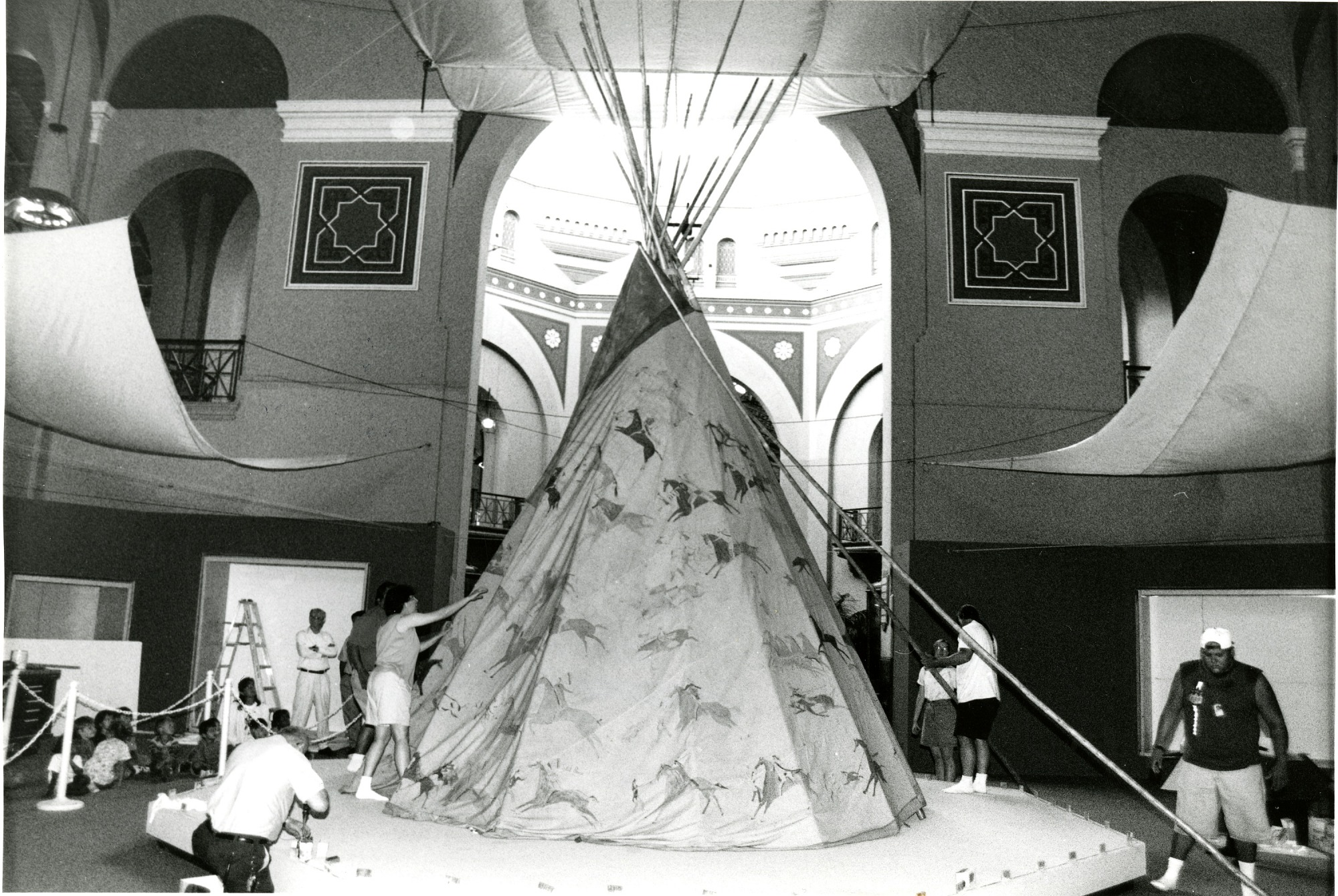 Installation of Dakota Tepee, Arts and Industries Building