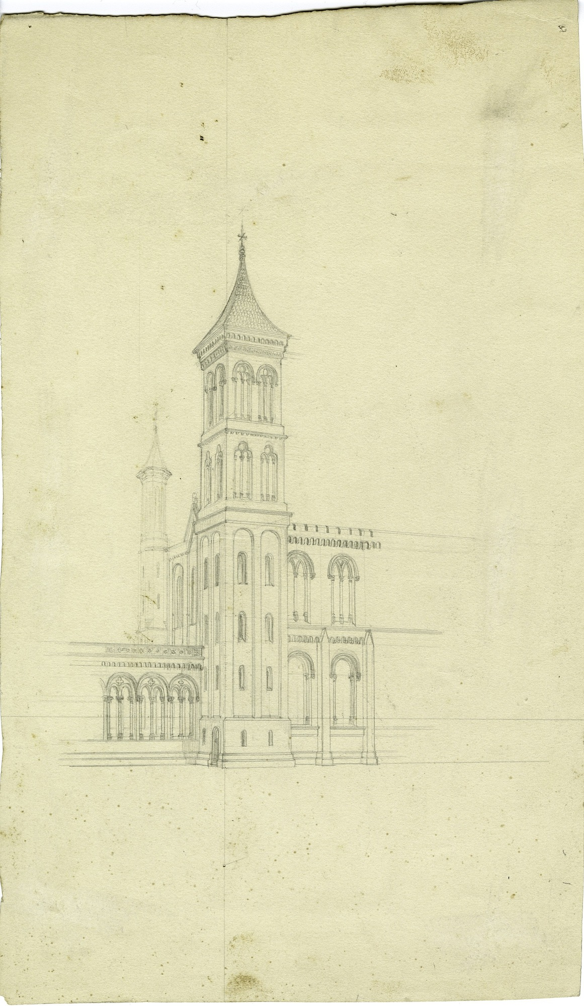 Smithsonian Institution Building, circa 1848