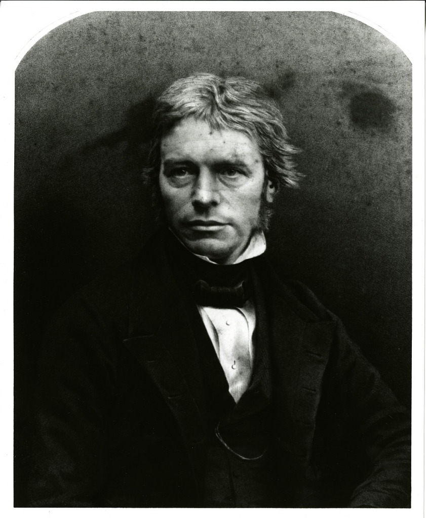 Image is Michael Faraday, c. 1830s, Smithsonian Institution Archives, negative number SIA2012-1087.