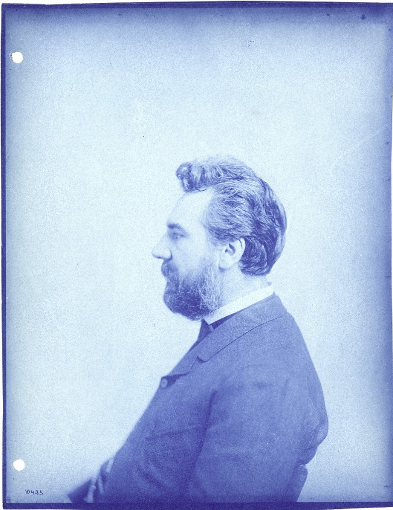 Cyanotype photograph of Alexander Graham Bell, c. 1880s. Smithsonian Institution Archives, negative number SIA2012-1089.