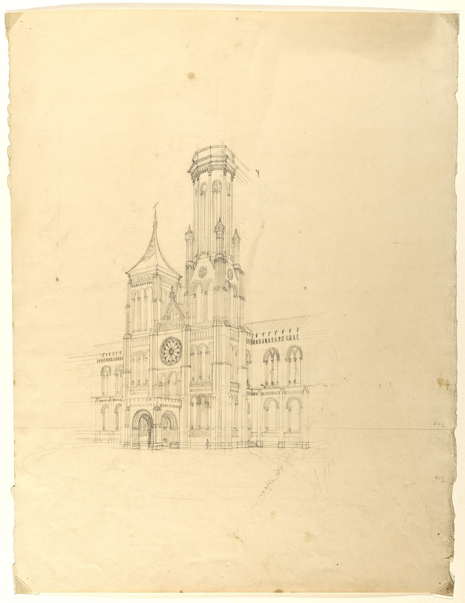 Smithsonian Building Cornerstone Laid, May 1, 1847, Smithsonian Archives - History Div.