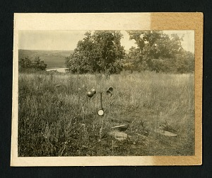 Image of [59] Wind gauge and inidentified field equipment on hillside