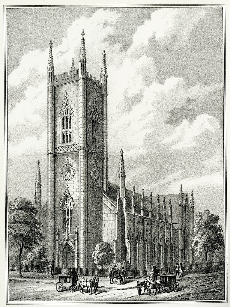Engraving of the First Presbyterian Church of Albany, New York, where Joseph Henry was baptized, negative number SIA2012-3432.
