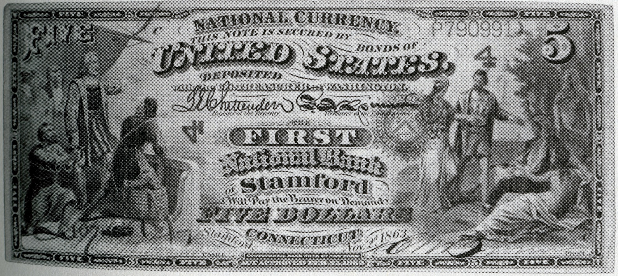 Five dollar bill created by the National Currency Act of February 25, 1863, by Joseph Henry Papers Project, 1863, Smithsonian Archives - History Div, SIA2012-3533.