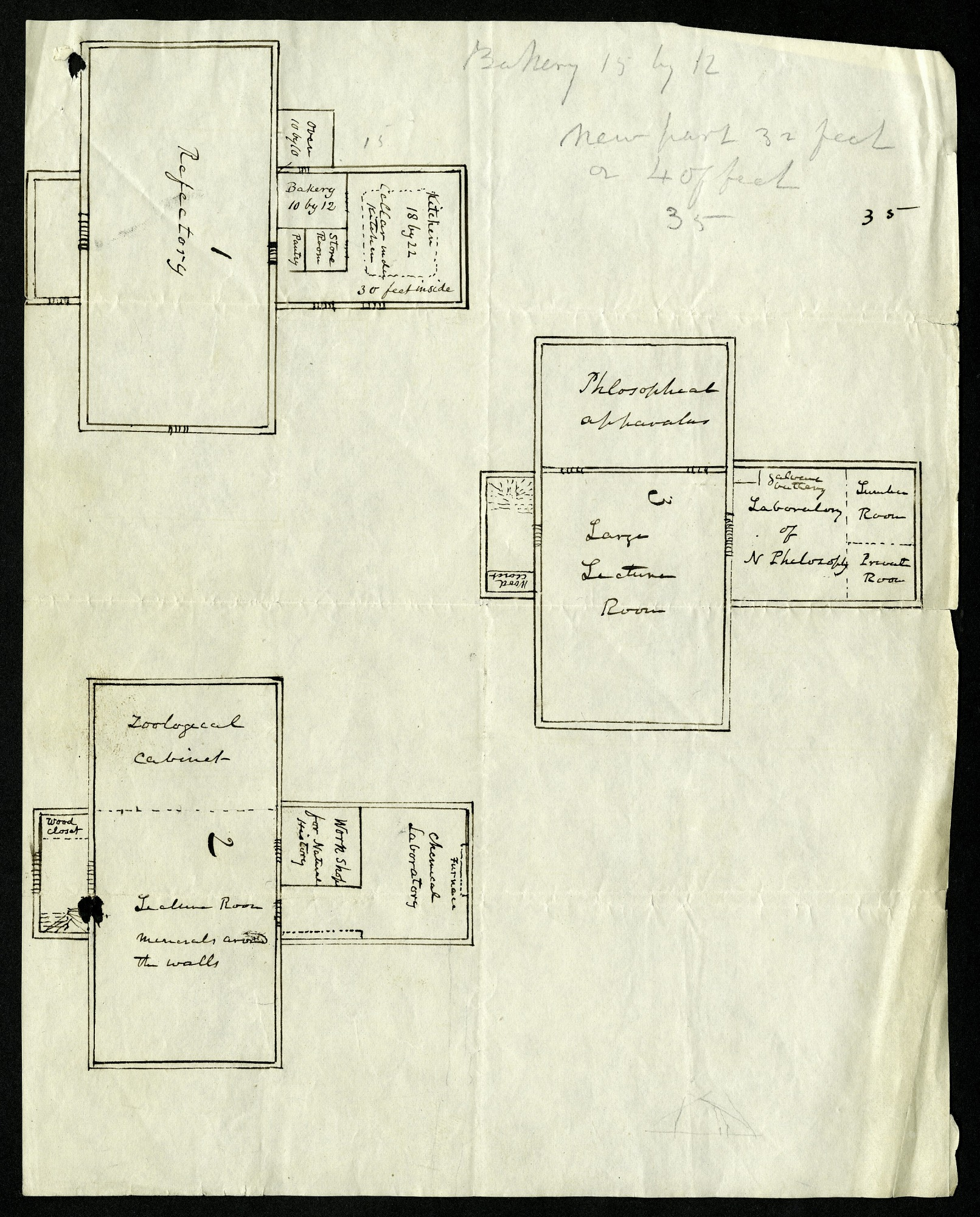 Sketch of Philosophical Hall at the College of New Jersey