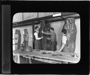 Image of Repairing and Installing Egyptian Mummy Cases