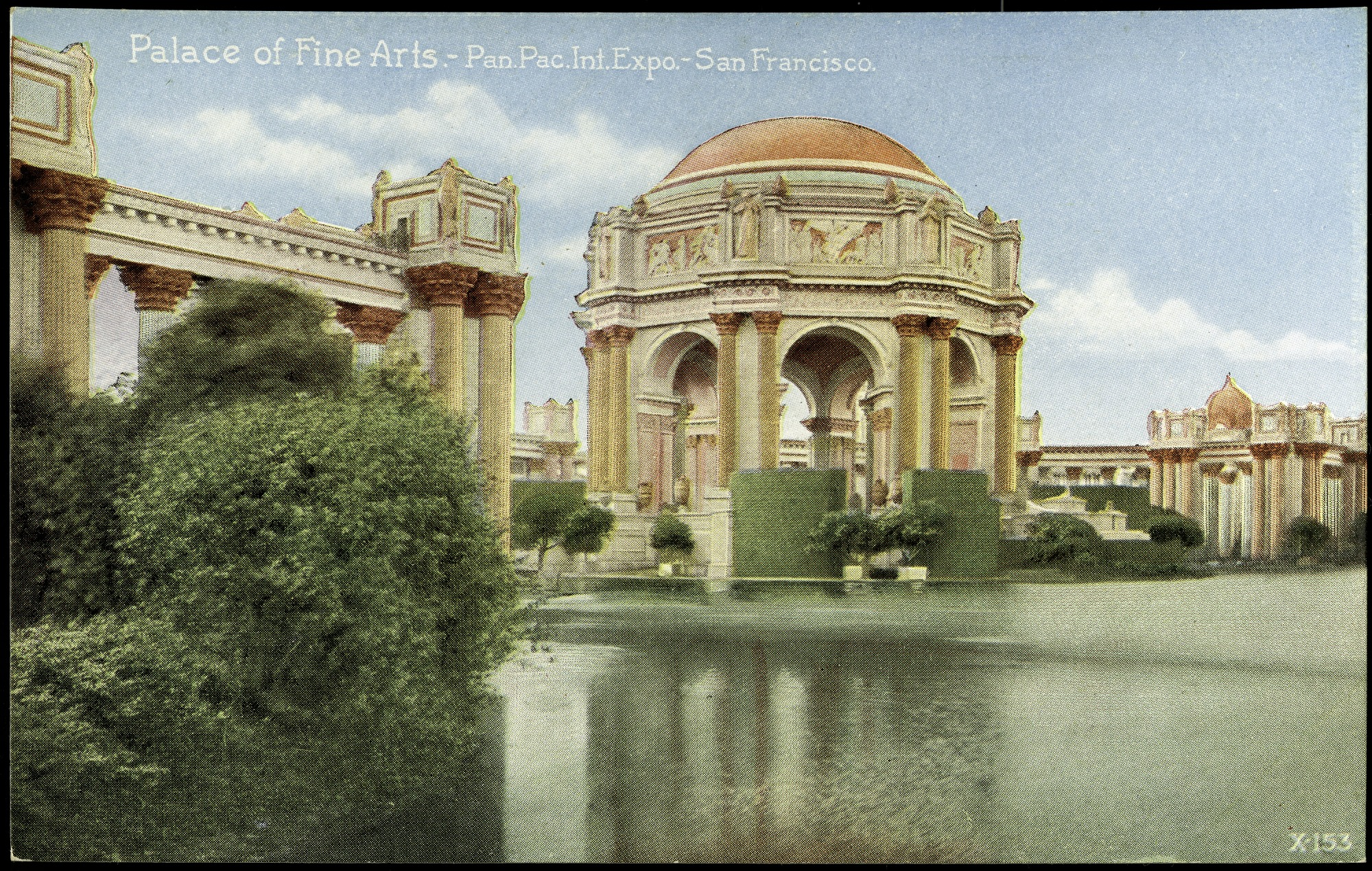 Palace of Fine Arts Postcard from the Panama-Pacific Exposition, by Unknown, 1915, Smithsonian Archives - History Div, SIA2012-7597 (front) and SIA2012-7598 (back).