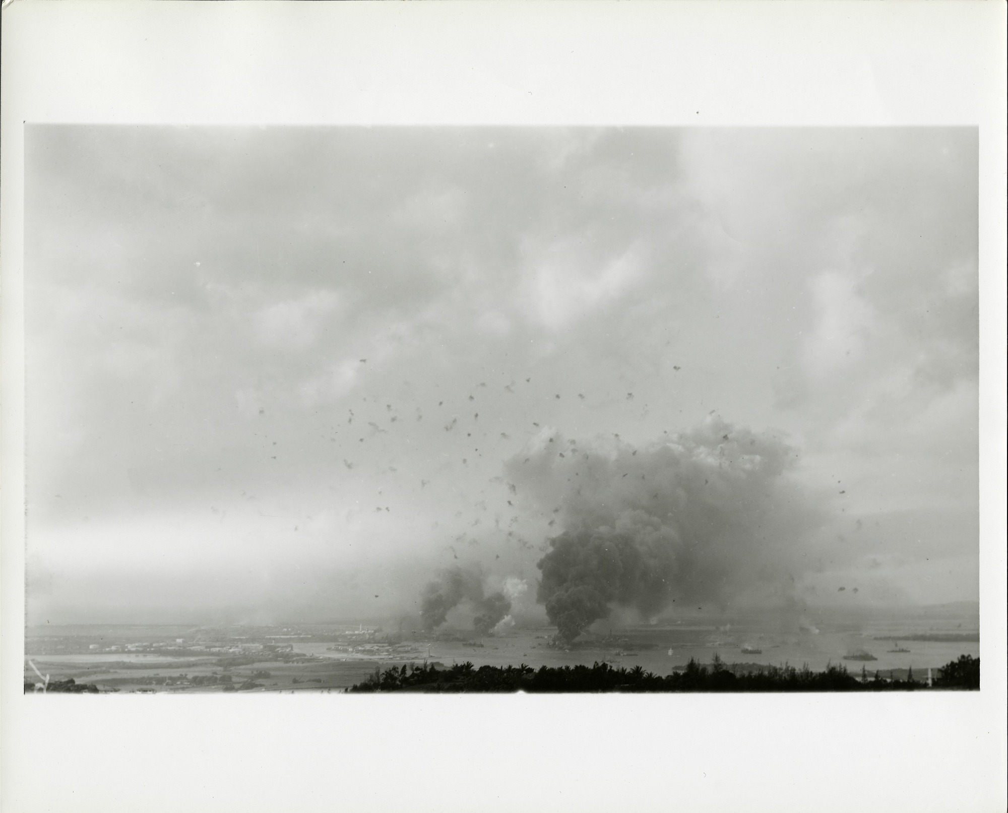View of the Japanese Attack on Pearl Harbor, by United States Dept. of the Navy, Smithsonian Archives - History Div, SIA2013-00600 or USN 32792.