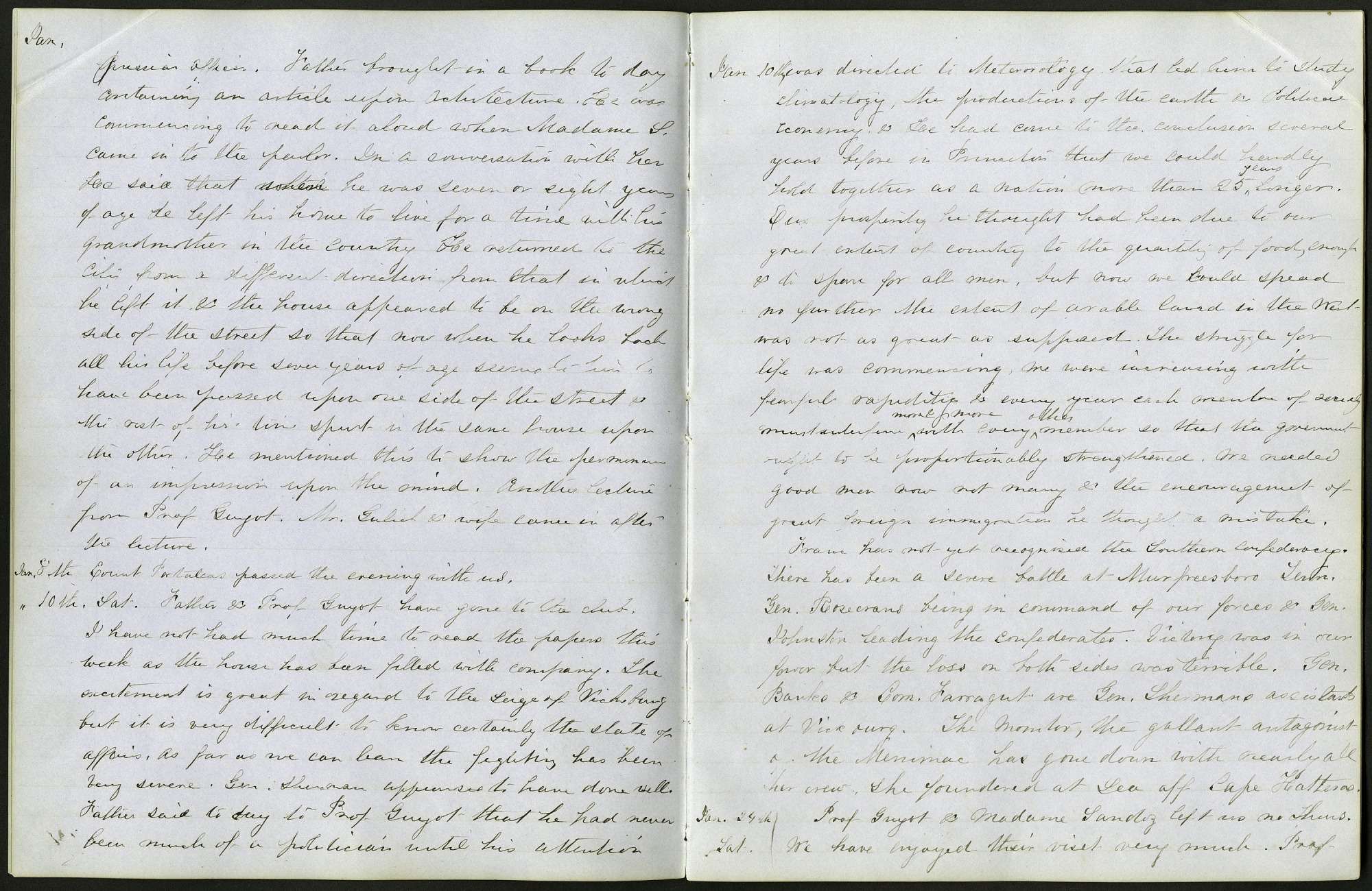 Mary Henry Diary Entries, 1863, on Soldier and their Wives