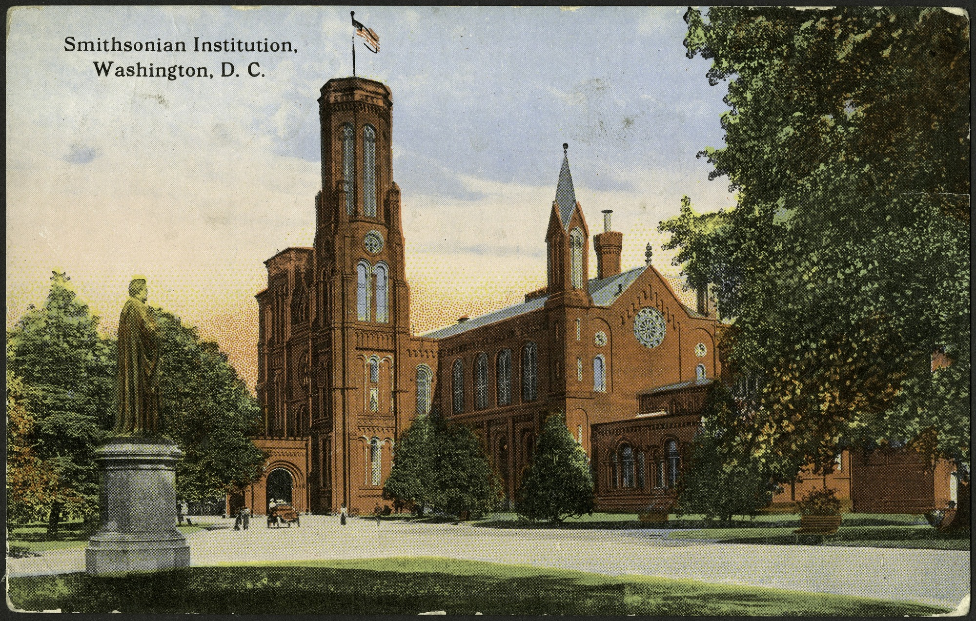 Postcard of the Smithsonian Institution Castle