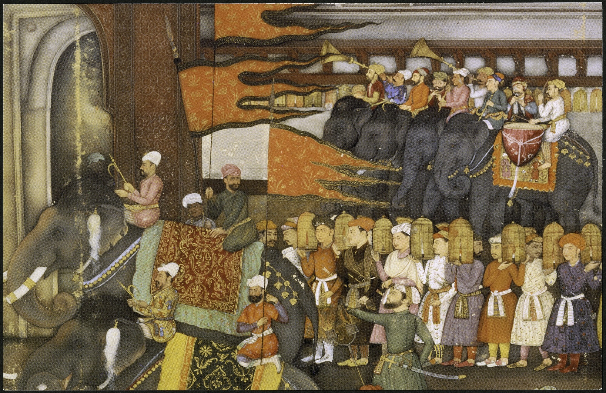 "Postcard of ""The Wedding Procession of Prince Dara-Shikoh"", by Unknown, 1997, Smithsonian Archives - History Div, SIA2013-07761 (front) and SIA2013-07762 (back)."