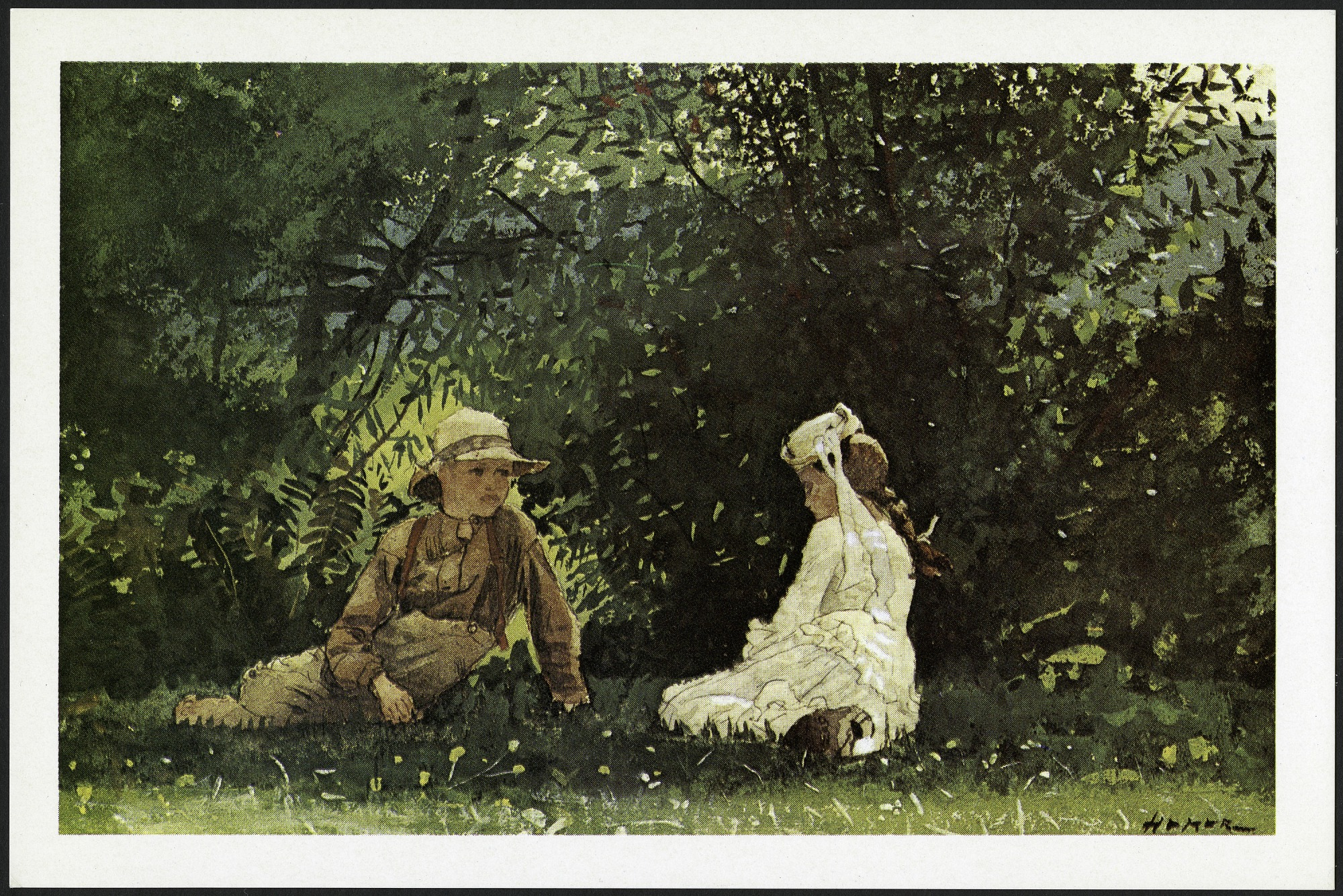 "Postcard of ""Scene at Houghton Farm"""