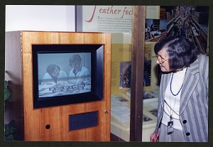 Image of Roxie Laybourne Looking at Video Screen in