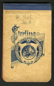 Image of Two notebooks of Frederick William True containing field notes and daily entries on seals and other wildlife on St. Paul Island, Kelaire, Lukannan, Polovina, Tolstoi, and St. George's Island, Alaska