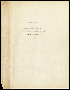 Image of Albert Spear Hitchcock - brief report on a trip to Ecuador, Peru and Bolivia, May 25, 1923-February 18, 1924