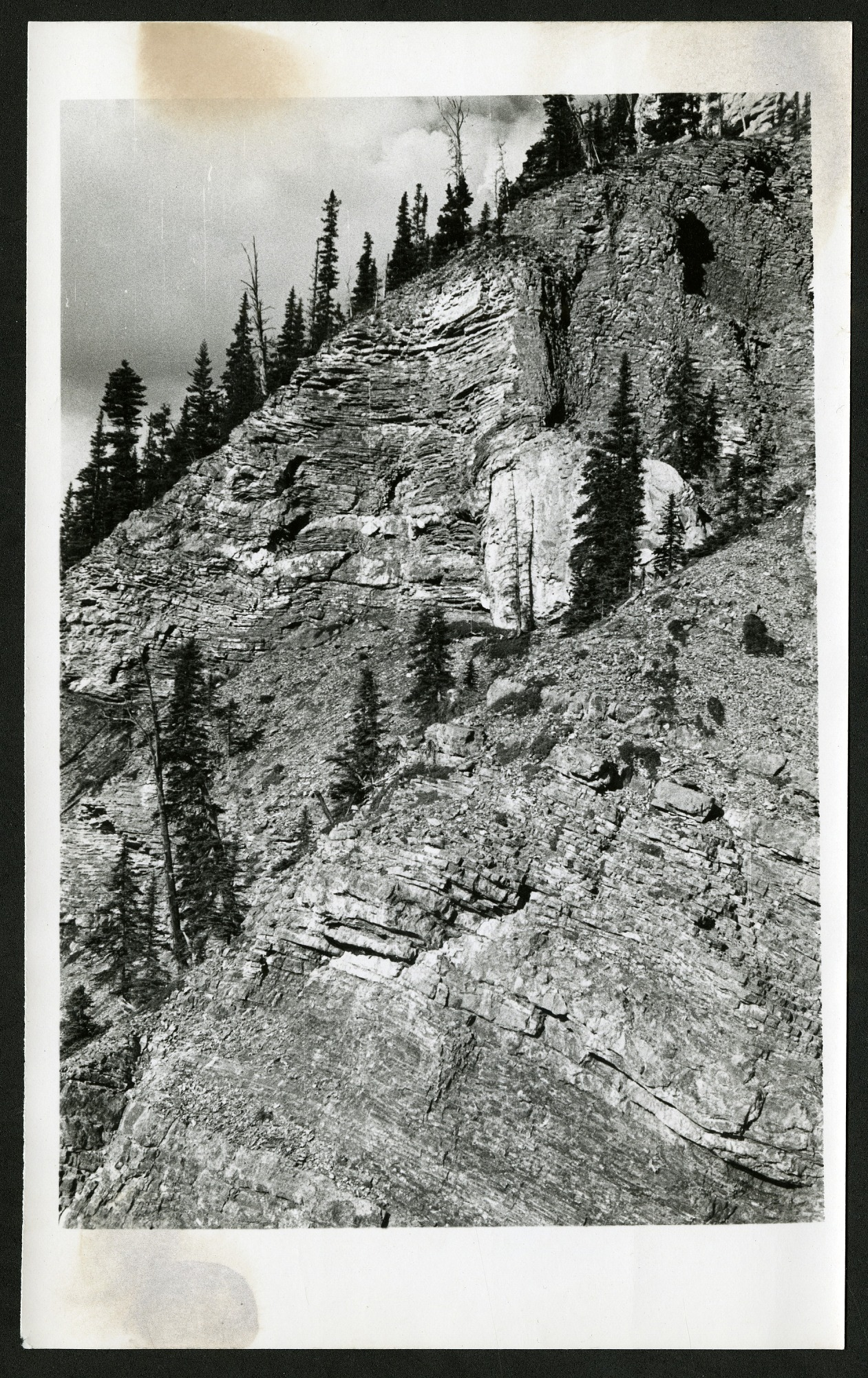 Photographs, Geological Formations, Canadian Rockies, undated