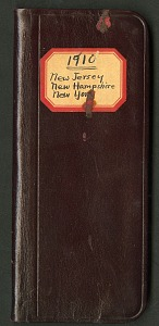 Image of Field notes, New York, New Jersey, and New Hampshire, August 26-September 17, 1910