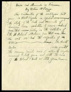 Image of Reports on field trips, written by W. M. Perrygo, 1936-1940