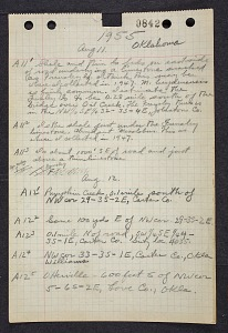 Image of Field notes, circa 1955
