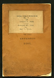 Image of Local field note-book no. 2 of Lester F. Ward, October 16, 1892 to May 7, 1893