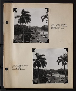 Image of Album 2 Panama, 1959, volume 1 : includes photographs of Wetmore and Beatrice Thielen Wetmore