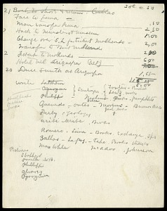 Image of South America, itinerary, and expense record, 1908-1909
