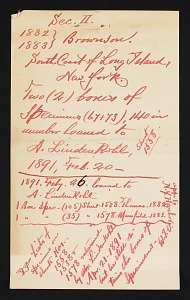 Image of Correspondence from W. Irving Vinal, 1891