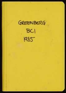 Image of Field notes, BCI, 1985