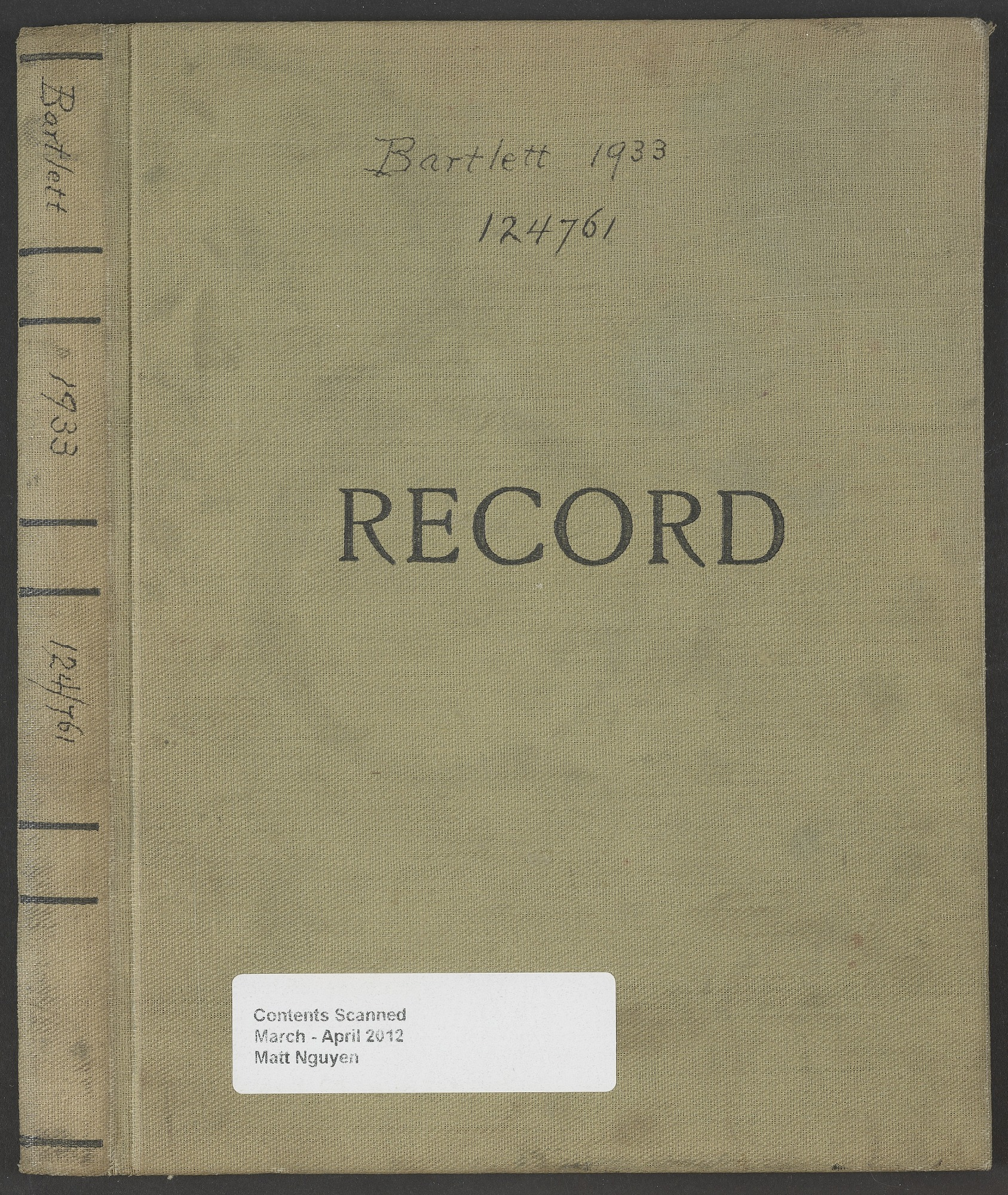 Norcross-Bartlett Expedition, Foxe Basin and vicinity (Accession 124761), 1933.