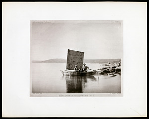 Image of Plate XXXVII - First Boat on Yellowstone Lake