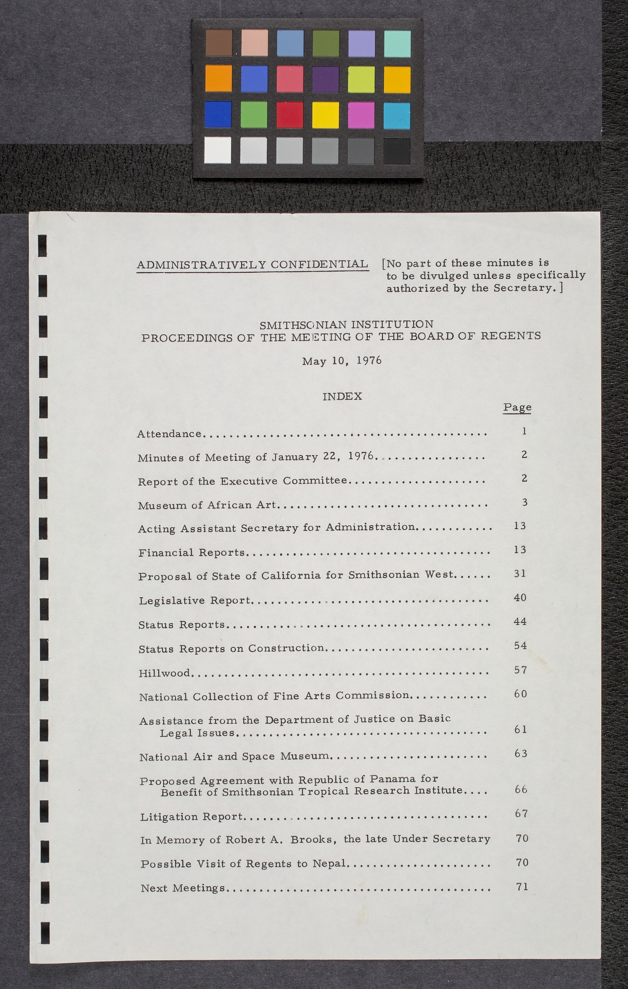 Proceedings of the Board of Regents May 10, 1976
