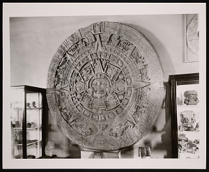 Image of Antiquities of Mexico, Natural History Building - Aztec Calendar Stone