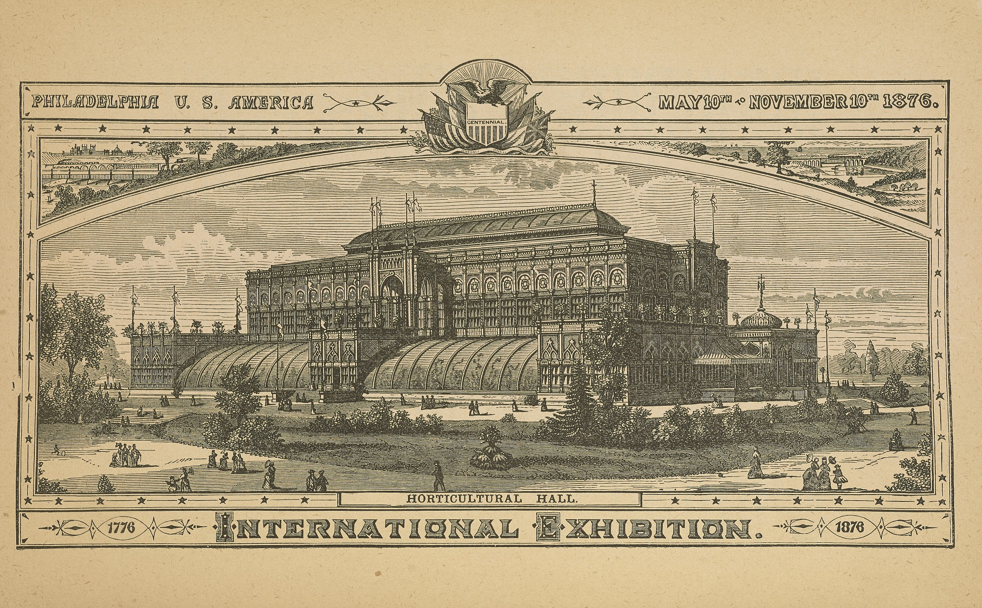Horticultural Hall, from What Is the Centennial? And How to See It, Philadelphia, 1876