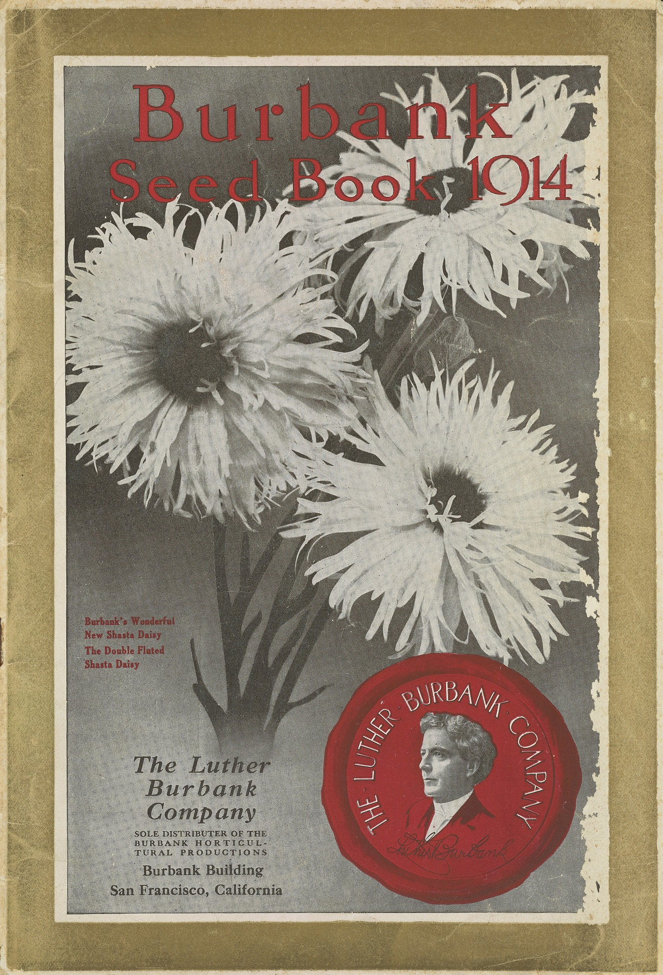 Cover of Burbank Seed Book 1914