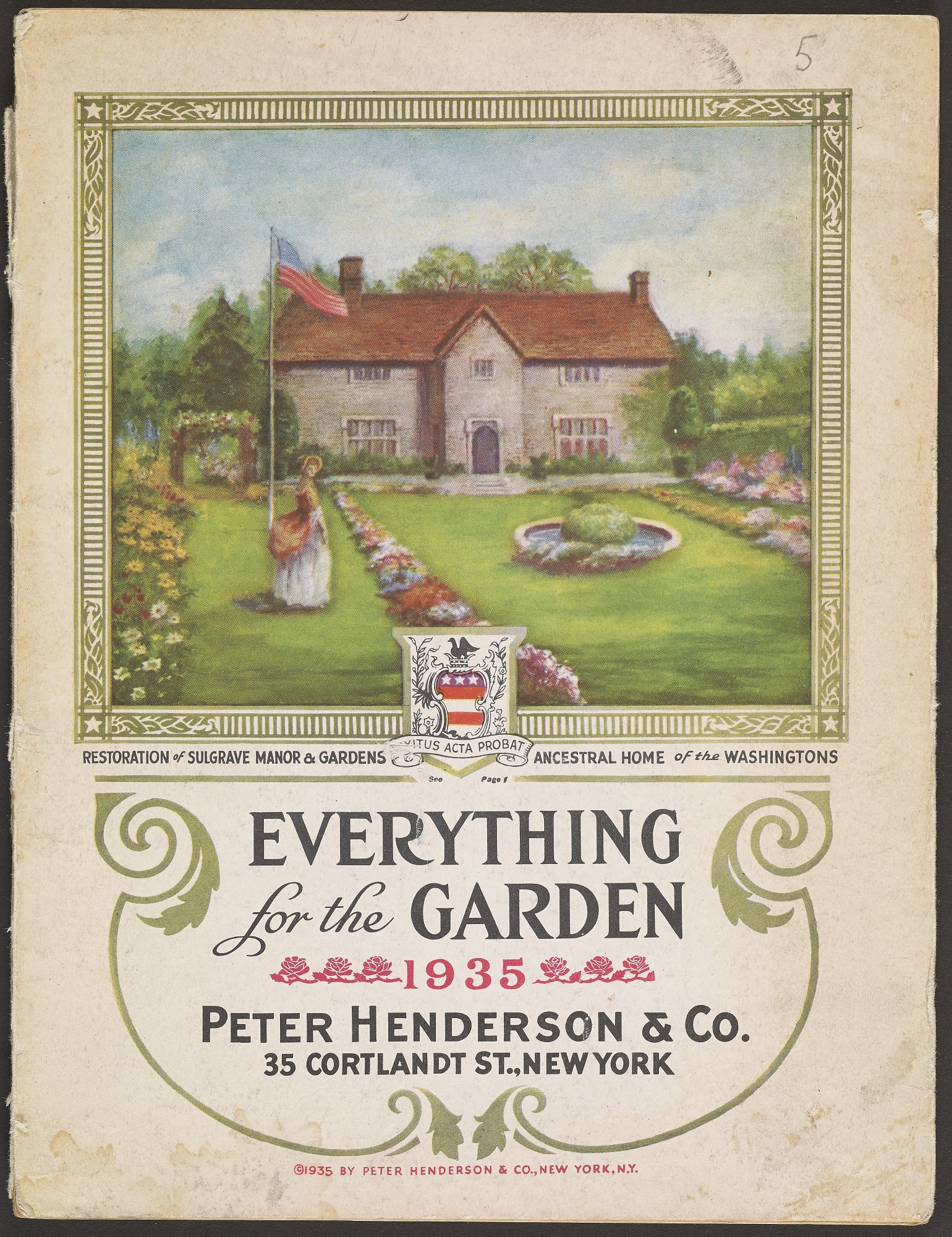 This catalog features Sulgrave Manor, George Washington's ancestral home in England.