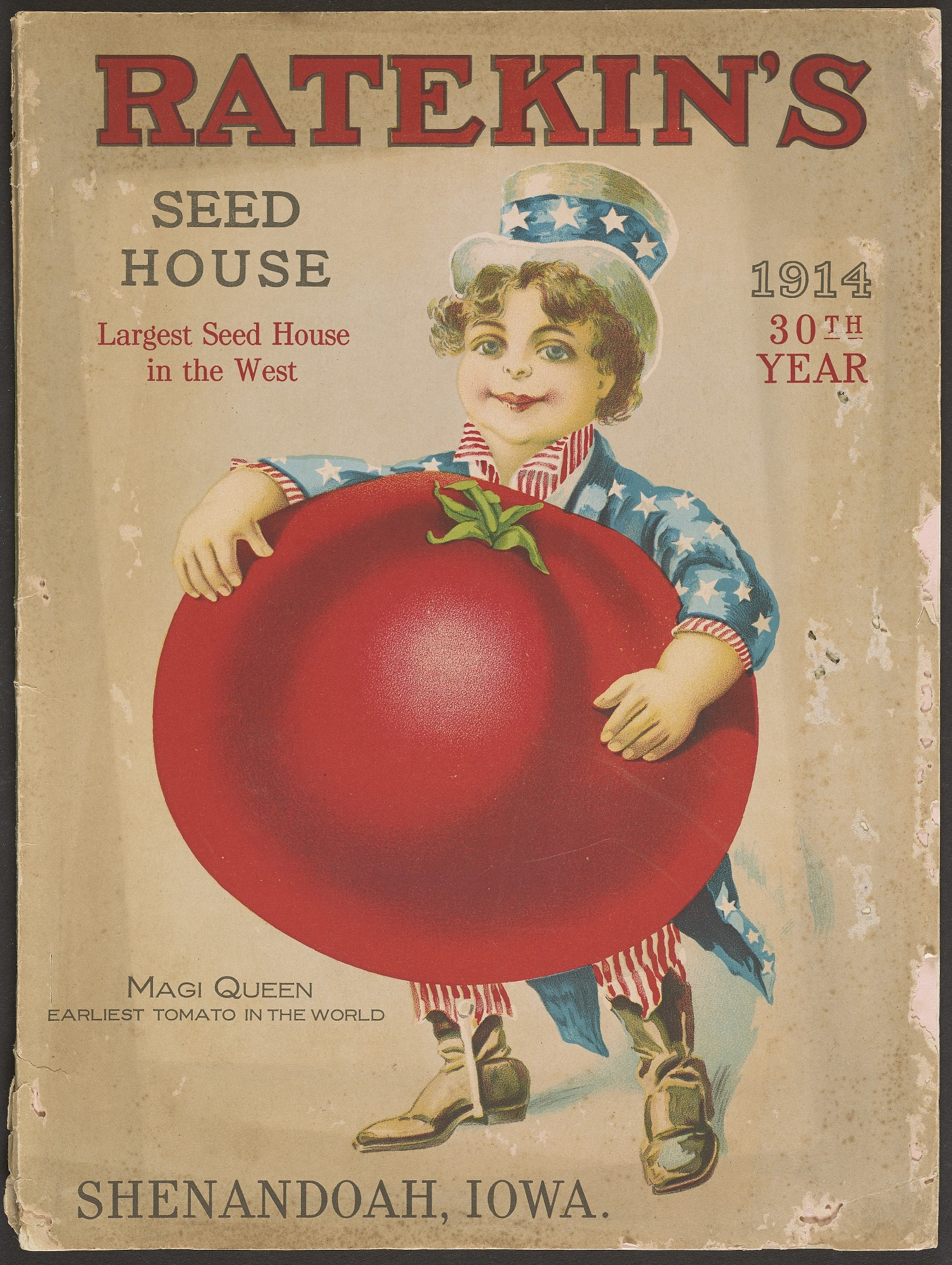 Ratekin's Seed House, Seed catalog, 1914