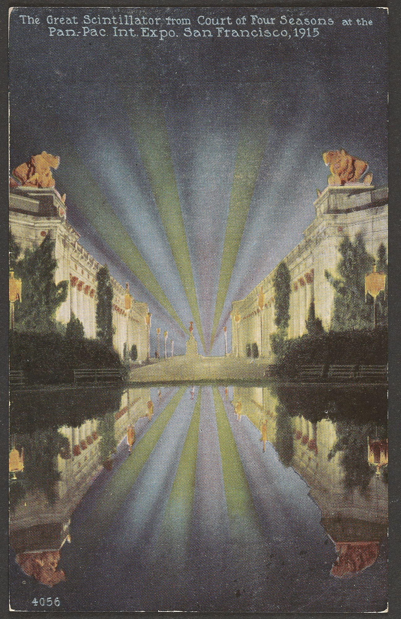 Postcard: The Great Scintillator from Court of the Four Seasons, 1915