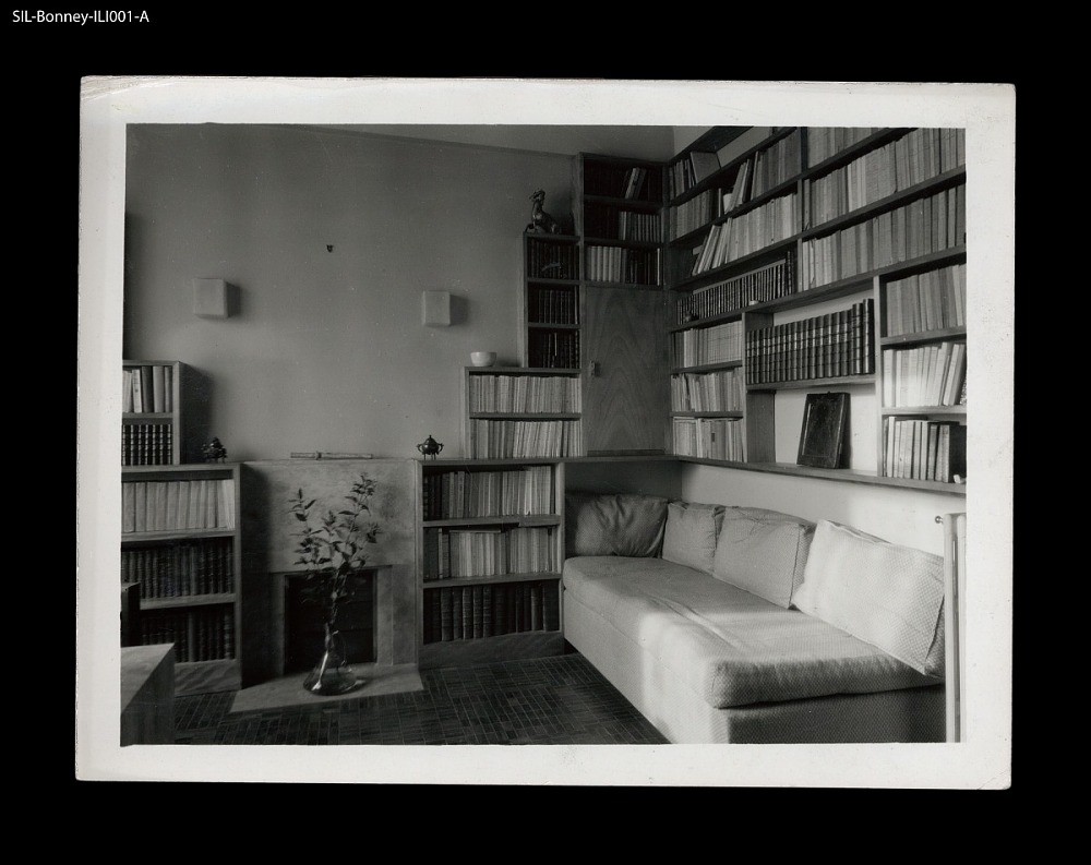 Library. Paris, circa 1925. Georges Djo-Bourgeois, architect and ...