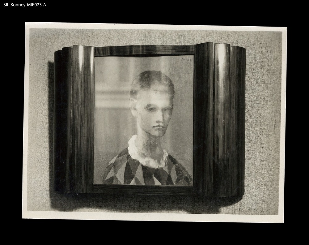 Picture frame. Paris, 1931. Mahogany and dark metal frame. Painting ...