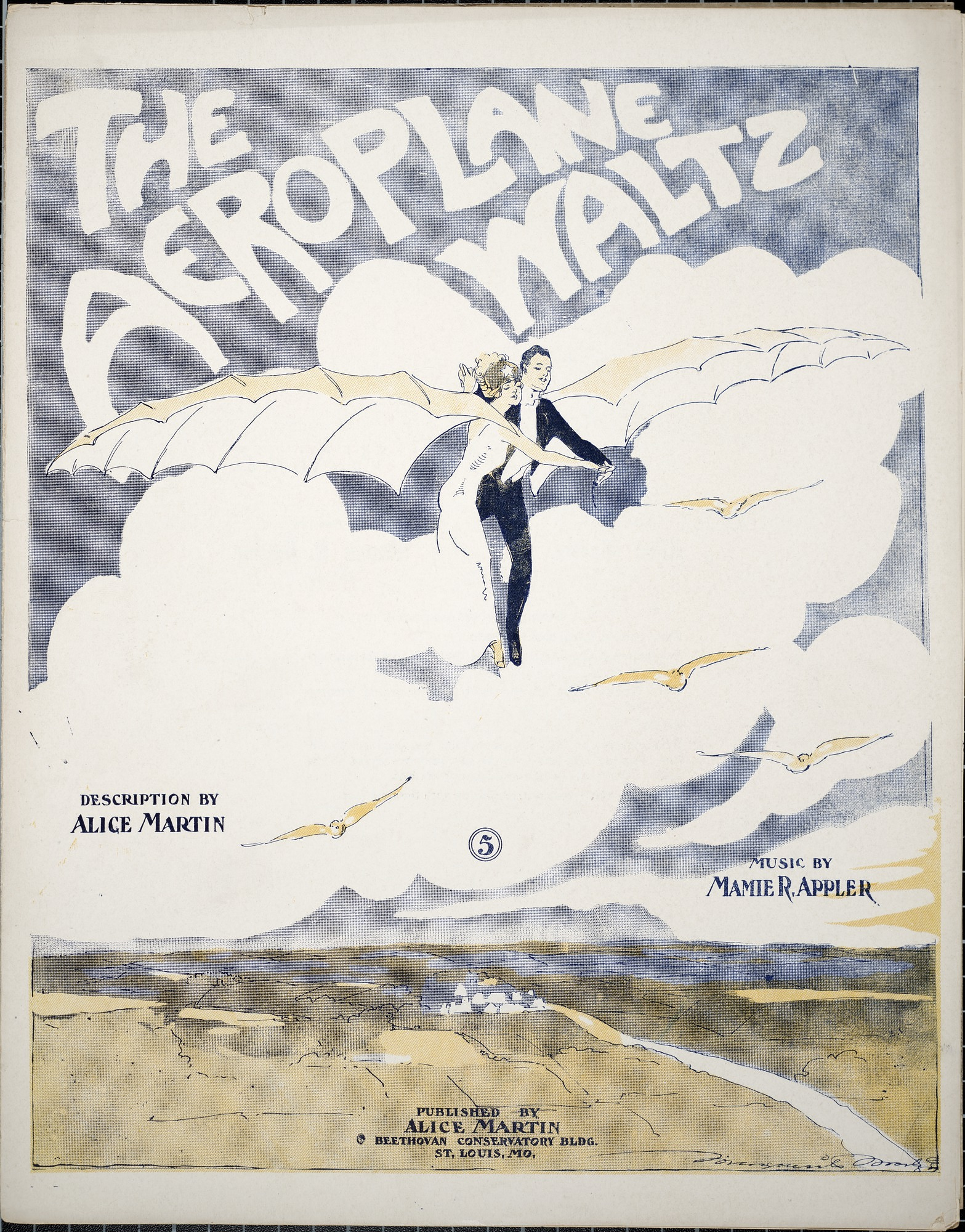 The aeroplane waltz / description by Alice Martin ; music by Mamie R. Appler
