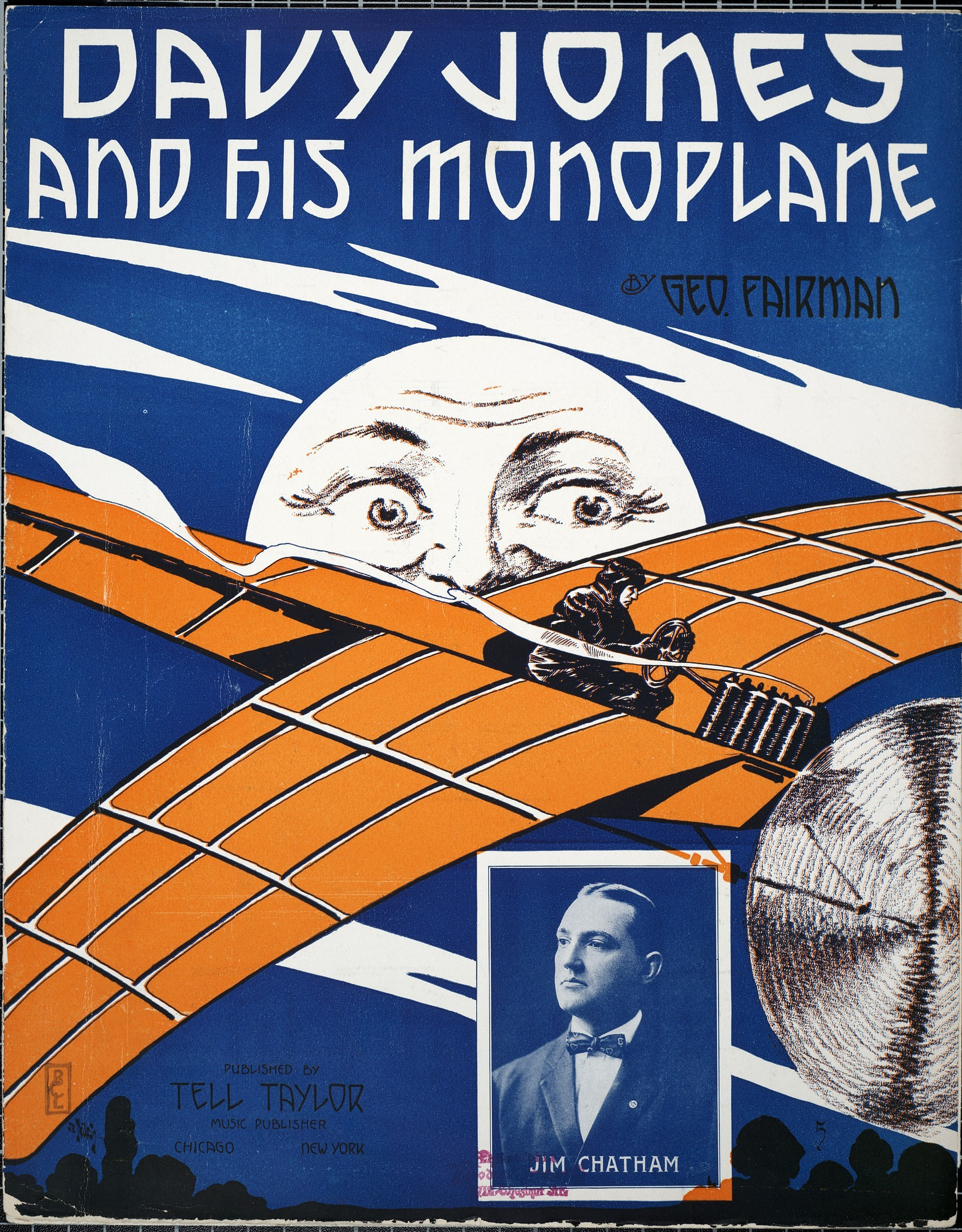 Davy Jones and his monoplane / words & music by Geo. Fairman
