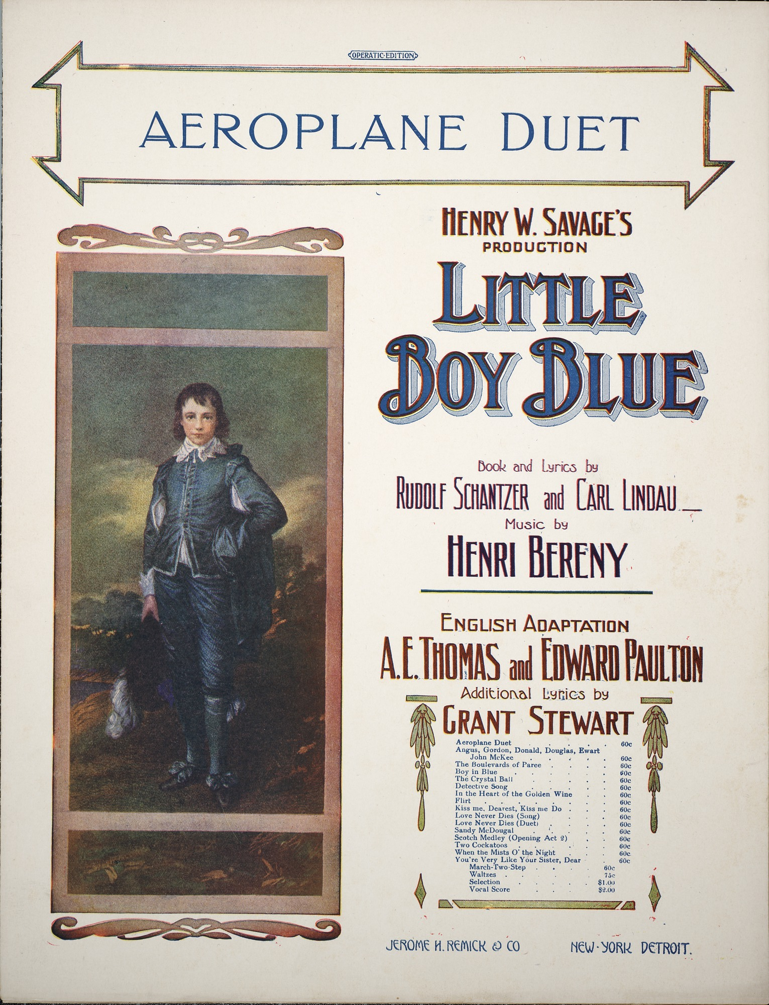 Aeroplane duet : Kitty, Donald / lyric by Grant Stewart ; music by Henry Berény
