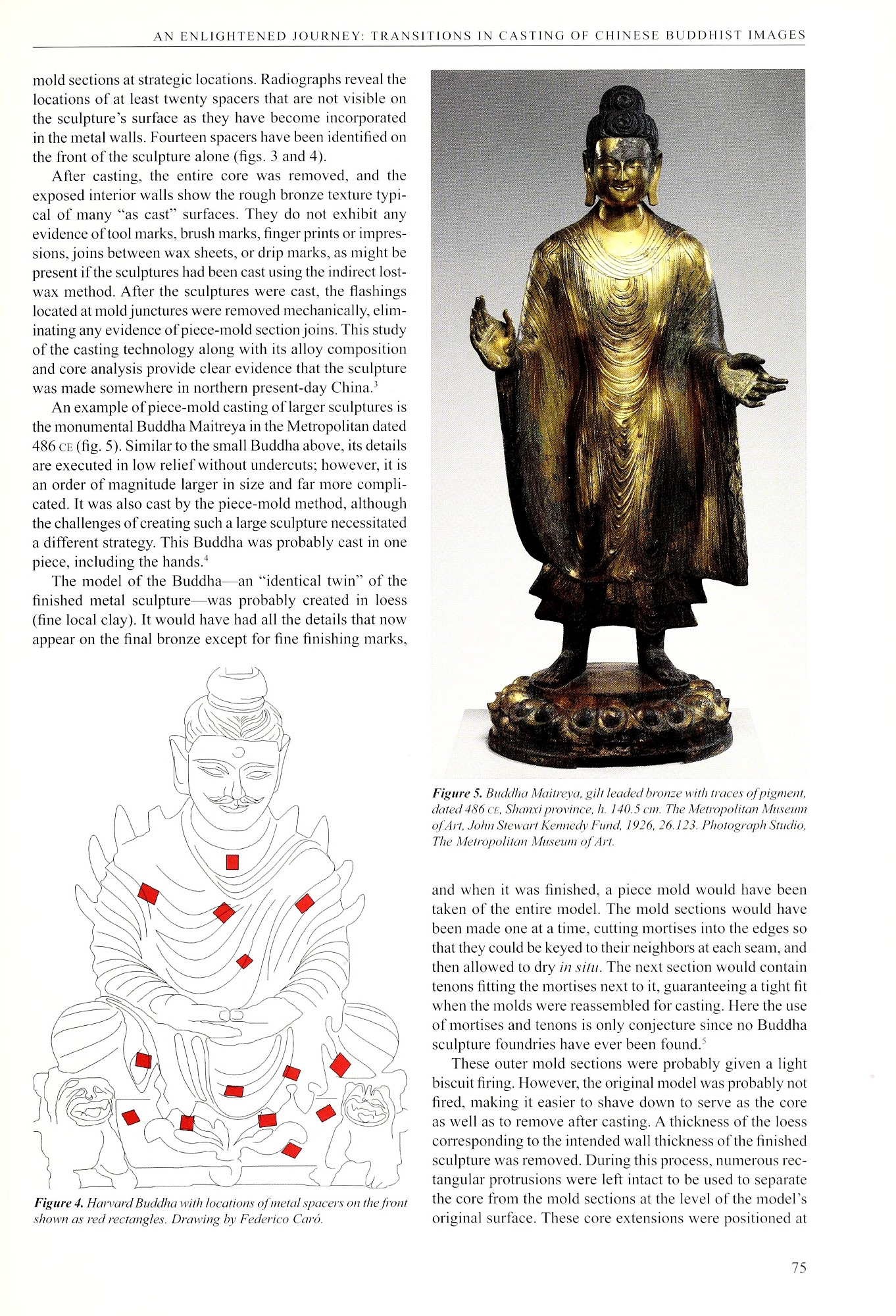 Figure 5 Buddha Maitreya, gilt leaded bronze with traces of pigment from Scientific research on ancient Asian metallurgy : proceedings of the fifth Forbes Symposium at the Freer Gallery of Art