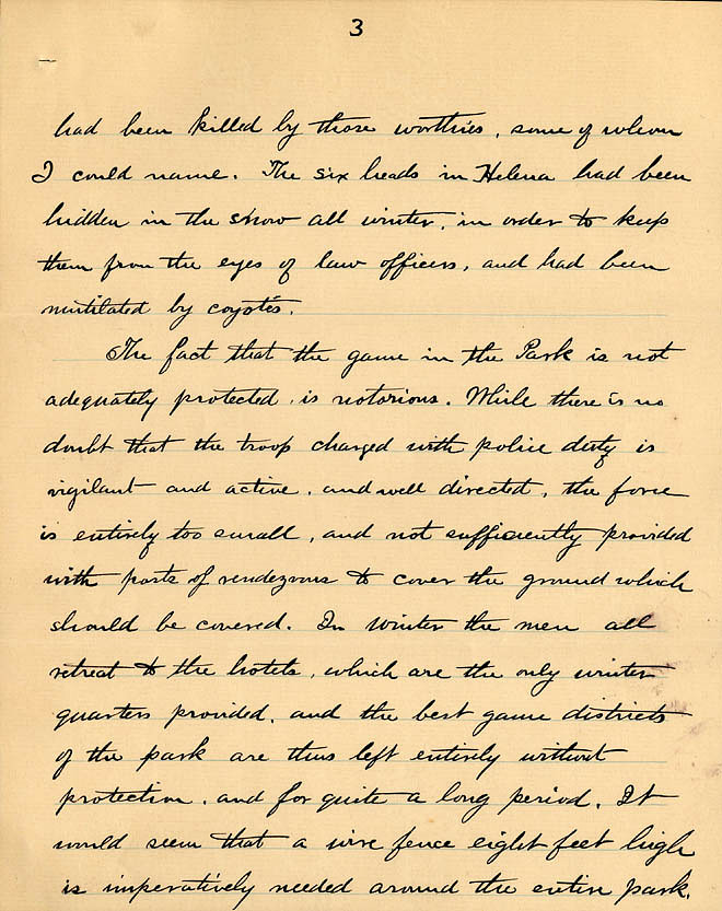 William Temple Hornaday Letter - Dec 2, 1887 - Page 3